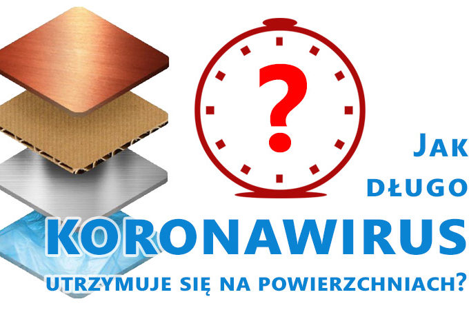 Czas życia koronawirusa na przedmiotach